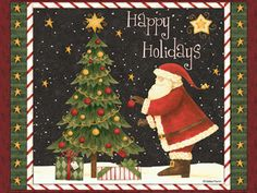 Happy Holidays  Debbie Mumm  Free Desktop backgrounds, free e-cards and more