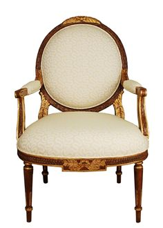 Louis Mahogany and Giltwood Bergere. Available in custom finishes and fabrics