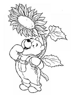 Winnie The Pooh Disney Spring Coloring Pages | becoloring.com