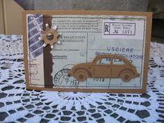 card with car - VW - beetle bubble - Marianne design die - caeen berg kaartjes (en meer): Keverkaartjes