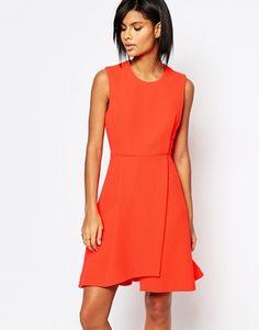 Whistles Textured Dress in Orange