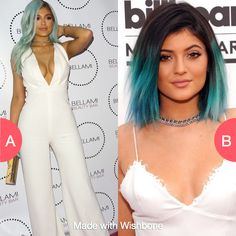 Which shade of blue looks better on Kylie Jenner? Click here to vote @ http://getwishboneapp.com/share/3369021