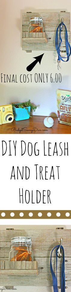 DIY Dog Leash and Treat Holder Tutorial - #beyondsnacks  - the final cost was $6 and it took almost no time to make. ad