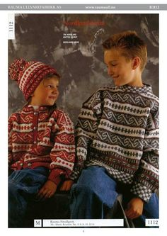 R 1112 - Nordlandskofte Barn Baby Barn, Bunt, Color Combinations, Christmas Sweaters, Knitting Patterns, Retro, Winter Coats, Crafts, Craft Ideas