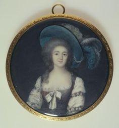 Portrait de jeune femme en chapeau à plumes, attributed to Benzi-Basteris, Vincenza   Paris Musées