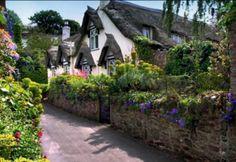 Porlock, a coastal village in county Somerset, southwest England