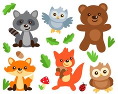 Woodland Clipart Woodland Digital Clipart Woodland by ClipArtKiwi
