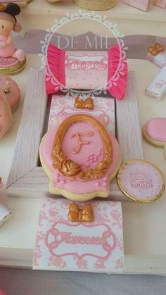 Cookies at a Minnie princess birthday party! See more party ideas at CatchMyParty.com!