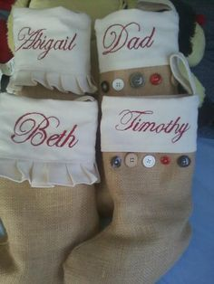 Burlap Christmas Stockings!!