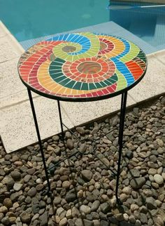 Mosaic Tray, Patio Table, Art Projects, Crafts, Furniture, Home Decor, Mesas, Window Boxes, Manualidades
