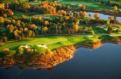 Golf Course photograph by Cameron Davidson, Virginia, Winner of National Geographic, Aerial Photography