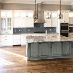 Kitchen of our most recently completed custom home. This kitchen has 12' ceilings. #henryscabinets #kitchendesign #finishwork #thegrove #groveliving #nashville #franklin  #hatcliffconstruction #keepcraftalive #luxury #contractor #craftsmanship #slcustombuilder #southernlivingcustombuilder #design #interiordesign #dreamhome  #architecture #inspiration #buildwithpassion #cultureofcraft
