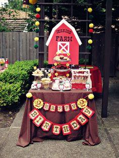Barnyard/Farm Birthday Party Ideas | Photo 1 of 13 | Catch My Party