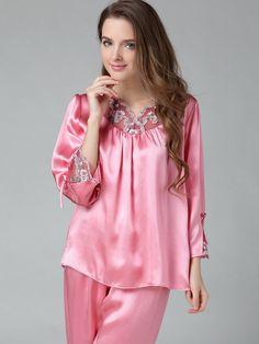 Beautiful color. Pure Silk Pajamas Set