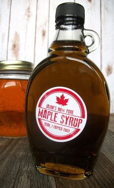 5c4ce6414c4 Custom Rubber Stamp Maple Syrup Bottle Labels