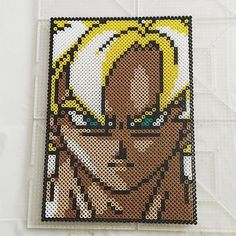 Goku Dragon Ball perler beads by Jake Tastic