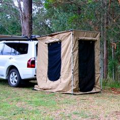 The Tough Rear Change Room or Rear Awning Tent is a great accessory for your Tough Rear Awning 1.4x2M. It quickly attaches to your rear awning using velcro straps transforming it into a full height tent. Made from the same waterproof ripstop canvas as the