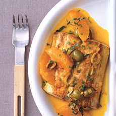 Pan-Seared Mahi-Mahi with Oranges and Olives Recipe