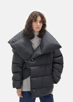 Waterproof Asymmetric Puffer Jacket