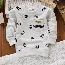 2015 New Autumn Children Long-Sleeved Round Neck T Shirt Boys Fashion Casual Sports Sweatshirt Pocket Beard Hat 5-Color T-Shirt