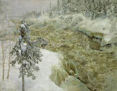 Imatra in Winter, 1893, Akseli Gallen-Kallela. Finnish (1865 - 1931)