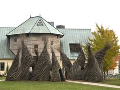 Patrick Dougherty--So Inclined2007. Middlebury College, Middlebury, VT.Photo: Tad Merrick