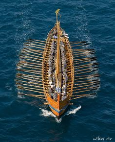 Argo sailing under Rio bridge. - Rio, Ahaia, Greece