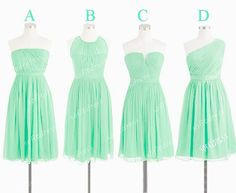 mint bridesmaid dresses cheap bridesmaid dress short by sofitdress, $90.00