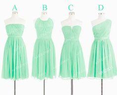 mint bridesmaid dresses cheap bridesmaid dress short by sofitdress, $90.00