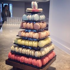 """From @sugarandspice_nz: """"Also got treated to this tower of macaroons (YUM) at @InterContinental Wellington 's club lounge. #spoilt"""""""