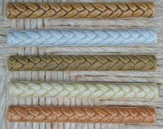 Ceramic Braid Border Tile 1 1/8x6 Relief tile by FarRidgeCeramics