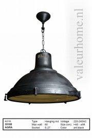 Hanglamp Agra zwart