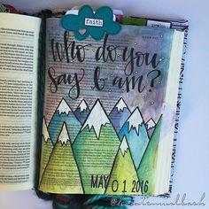 Bible Journaling by Kristen Wolbach @kristenwolbach   Mark 8:27-30