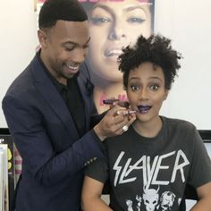 MUA @AJCrimson who has a line and store for black-owned brands only stopped by to transform our fashion assistant @lexxdc_s everyday makeup look. Swipe through to check out the look and tap our Instagram story for the full tutorial!  via ALLURE MAGAZINE OFFICIAL INSTAGRAM - Fashion Campaigns  Haute Couture  Advertising  Editorial Photography  Magazine Cover Designs  Supermodels  Runway Models
