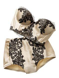 So retro! Love    #lingerie
