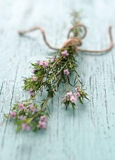 Tiny Pink Flowers by Lemons and Lavender.