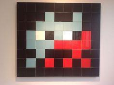 Invaders giant mosaic tiles Alien