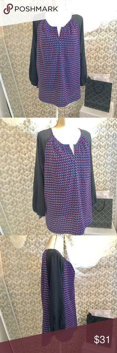 Calvin Klein long sleeve patterned top Size XL Calvin Klein Tops