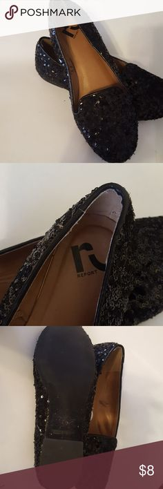 Shoes Black sequence Report flats gently used only one sign on inside of stress, but she still has plenty life left. Report Shoes Flats & Loafers