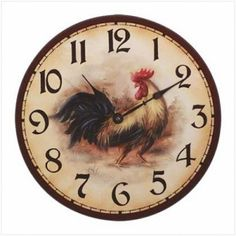 Rooster Wall Clock 24 95 Http Lexiskreationz Nvy Com Country Style Kitchenscountry
