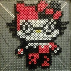 Harley Quinn Hello Kitty perler beads by plurnique