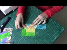 TUTORIAL BÁSICO Nº 1 DE PATCHWORK (LOG CABIN - FOUNDATION PIECING) - YouTube