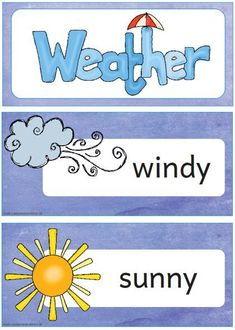 How is the weather today? Preschool Weather, Weather Science, Learning English For Kids, Teaching English, Elementary Science, Science Classroom, English Lessons, English Class, Weather Like Today