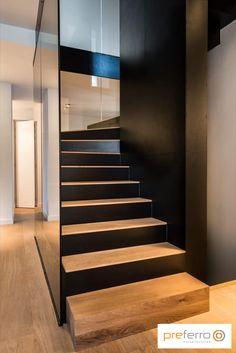 Staircase Railings, Staircase Design, Stairways, Home Room Design, Interior Design Kitchen, House Design, Interior Stairs, Interior Exterior, Hillside House