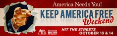 Join American Majority Action to knock on doors to Keep America Free on Oct 13 & 14!