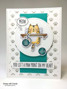 Stamp with Sandy: You Left A Paw Print On My Heart, PP301