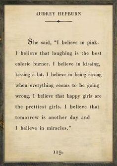 I agree whole heartedly!! Audrey Hepburn