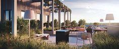 Botanikern - Bostäder - Genova Property Group Outdoor Furniture Sets, Outdoor Decor, My Dream Home, Patio, Windows, Colours, Landscape, Architecture, House