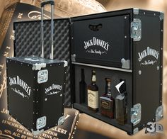 Flight Case Branding- Jack Daniel's Flight Case. Promotional flight cases.