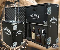 Selection Of Branded Jack Daniel's Flight Cases